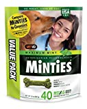 VetIQ Minties Dog Dental Bone Treats, Dental Chews for Dogs, (Perfect for Medium / Large Dogs over 40 lbs): more info