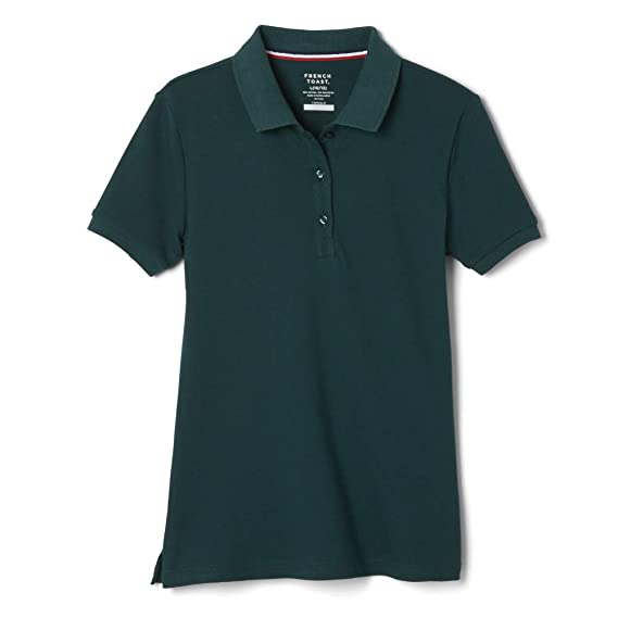 French Toast Girls School Uniforms Short Sleeve Stretch Pique Polo