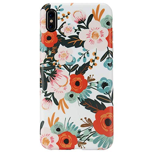 iPhone Xs MAX Case,GOLINK Matte Finish Floral Series Slim-Fit Ultra-Thin Anti-Scratch Shock Proof Dust Proof Anti-Finger Print TPU Gel Case for iPhone Xs MAX 6.5 inch(Orange ()
