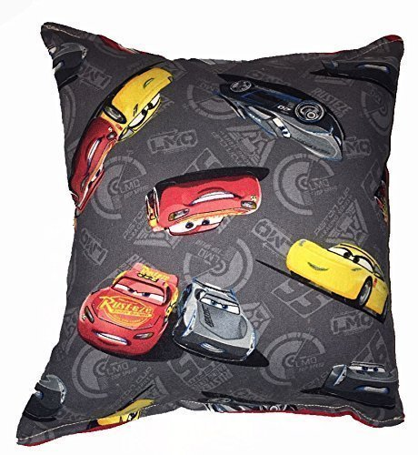 "Cars 3 Pillow Disney Cars Pillow McQueen & Storm Pillow HANDMADE In USA Pillow is approximately 10"" X 11"