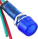 YuCo YC-9WRT-1B-12-10 9MM LED Indicator Miniature Pilot Light 12V AC or DC, Blue, 10 Pack