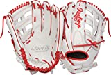 Rawlings Liberty Advanced Outfield Fastpitch Softball Glove, White/Scarlet, 13'