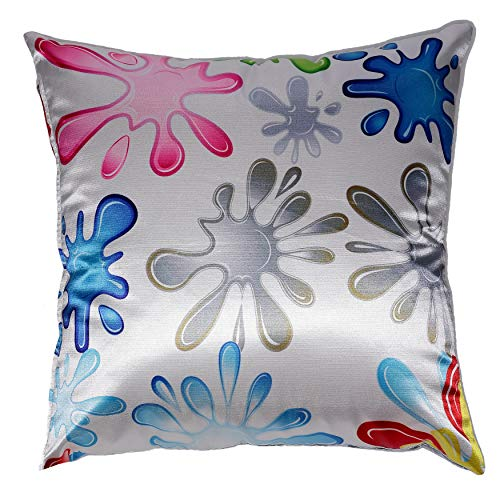 Cortesi Home Fun Splat Decorative Soft Velvet Square Accent Throw Pillow with Insert, 16 x 16 , Multi