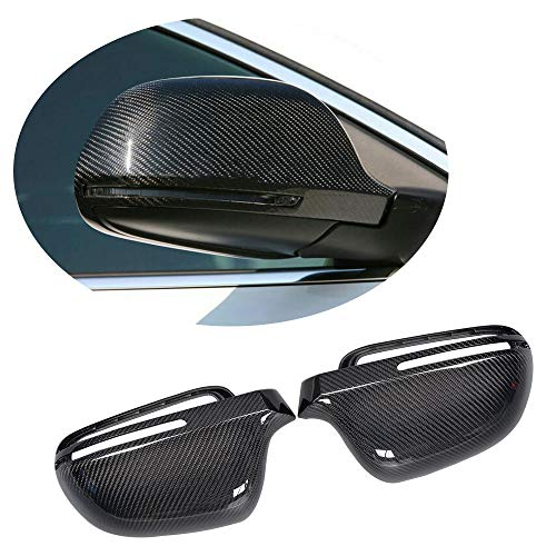 - MCARCAR KIT Mirror Cover fits Audi A4 B8 S4 2008-2011 Q3 2011UP A6 2008-2010 Replacement Carbon Fiber CF Rearview Side Rearview Mirror Caps Car Exterior Outside Shell