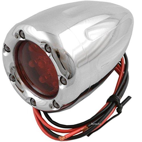 アレンネス Arlen Ness LED ウインカー ディープカット シングル球仕様 クローム/赤 (1個売り) 262827 12-748 B01N8PRAXD