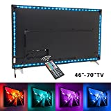TV backlight , Nexlux LED TV Lights USB Kit 5050 RGB Multicolor Back Lightings Strip with 44-key IR Remote Controller for 46inch~70inch HDTV PC Monitor Home Theater Decoration