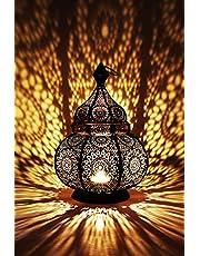Marrakesch Orient & Mediterran Interior Marokańska Lampa Vintage, Metal, Czarny, 30 cm
