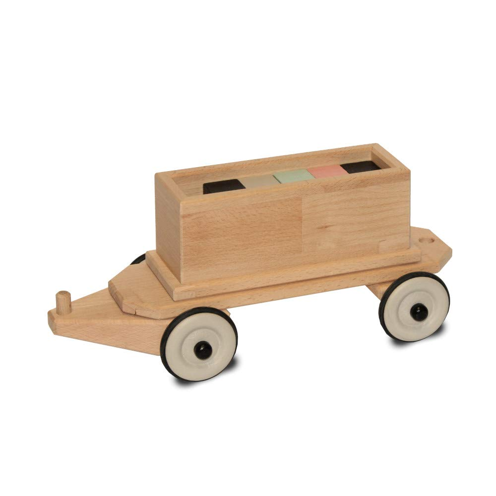 Holzzug - Tender mit zehn Steinen