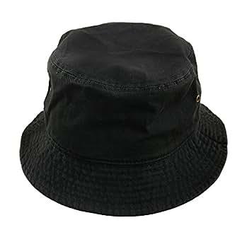 Falari Men Women Unisex Cotton Bucket Hat Small/Medium Black