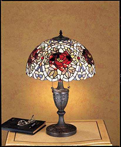 Meyda Tiffany 26674 Renaissance Rose Table Lamp, 24