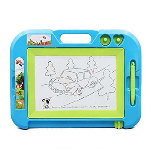 Magnetic Drawing Board Learning Toys - Hanmun HS215A  Erasable Writing Board Magna Doodle Sketch for Kids Toddlers Educational Toy(Blue) - Magnetic Learning Board