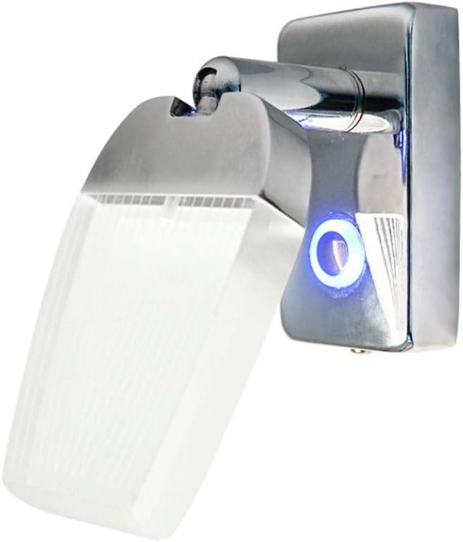 Camper and Motorhome Pack of 2 Car Marine Dream Lighting 12V LED Chrome Reading Light -Black Lampshade Bedside Lamp Cool White Lighting Map Light for RV