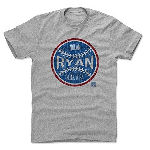 Jersey Texas 1 Rangers - 500 LEVEL Nolan Ryan Cotton Shirt (X-Large, Heather Gray) - Texas Rangers Men's Apparel - Nolan Ryan Ball BR