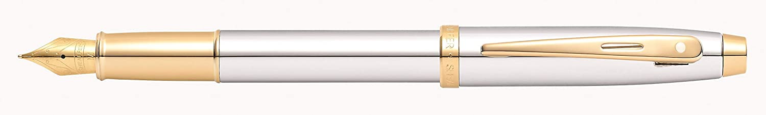 Sheaffer 100 Chrome Rollerball Pen with Gold Tone Trim