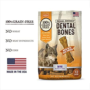 Amazon.com : Nylabone Primal Instinct Dog Dental Chews
