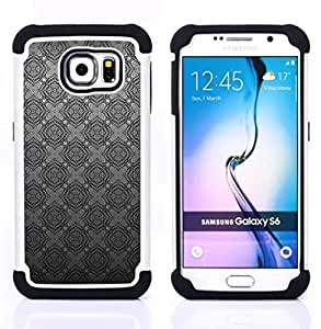 For Samsung Galaxy S6 G9200 - grey silver pattern wallpaper Dual Layer caso de Shell HUELGA Impacto pata de cabra con im??genes gr??ficas Steam - Funny Shop -
