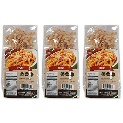 Low Carb Pasta, Keto Pasta, Great Low Carb Bread Company ,7g Net Carbs, 12g of Protein, Non GMO, (Penne, 3 Pack) 1