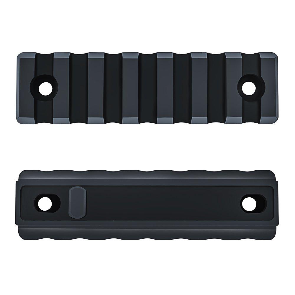 Omamba Keymod Picatinny Rail Section, 2 Pack 7-Slot Lightweight Polymer Weaver Rail For AR-15 Key Mod Handguard Mount Rail System