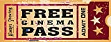 chengdar732 Home Cinema Metal Sign, Ticket to the Movie, Media Room, Family Room, Bar, Den Decor by