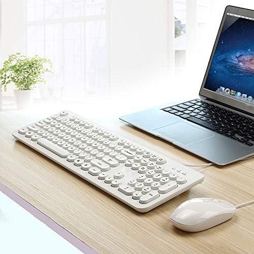 Color : B Qi Peng Keyboard and Mouse Set Notebook Desktop Computer U External SB Interface Keyboard Wired Home Office Sleek Minimalist Keyboard