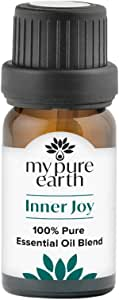 Inner Joy Essential Oil Blend, 100% Pure, Sustainably Sourced, Organically Crafted, Aromatherapy, My Pure Earth, 10ml,MPE-InnerJoy