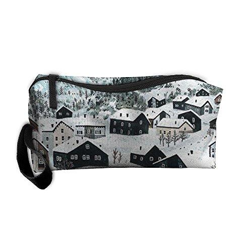 Box Creek House (Snow House Pencil Case Medicine Bag Toiletry Bag Toiletry Pouch Makeup Organizer Clutch Bag With Zipper For Women Girls)