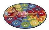 ECR4Kids Tick-Tock Clock Educational Activity Rug, 6-Feet Round