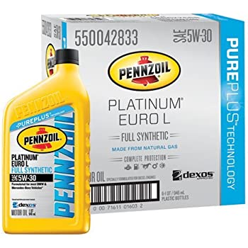 Pennzoil 550040834 6pk platinum euro sae 5w 40 for Pennzoil 5w 30 synthetic motor oil