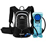 Insulated Hydration Backpack Pack with BPA Free 2L Water Bladder - Keeps Liquid Cool up to 4 Hours, Prefect Outdoor Gear for Hiking, Running, Cycling, Camping, Skiing, 15L