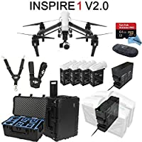 DJI Inspire 1 V2.0 Bundle with 4 Batteries + Charging Hub (Charge all batteries at the same time) + Go Professional Case + 64GB Extreme Pro MicroSD Card and more...