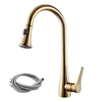 Kes Cupc Nsf Certified Brass Singel Handle Pull Down Kitchen Faucet