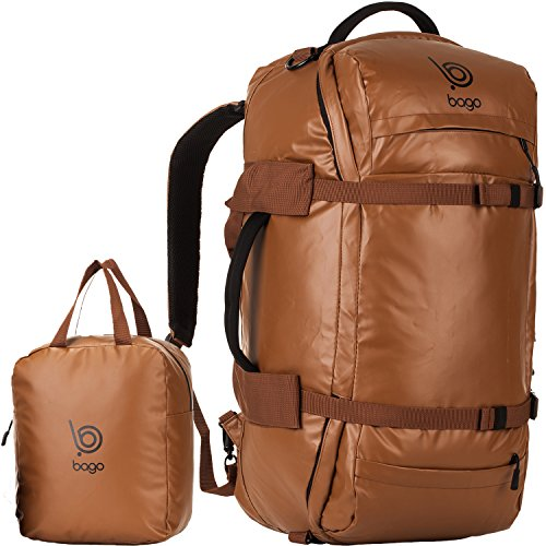 Bago Travel Duffel Backpack - Durable, Waterproof Bag For Sports, Gear, Carry-on
