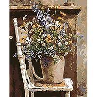 WACYDSD Puzzle 1000 Pezzi Puzzle 3D Fiore Viola in Vaso per La Decorazione Domestica della Parete per Matrimoni S