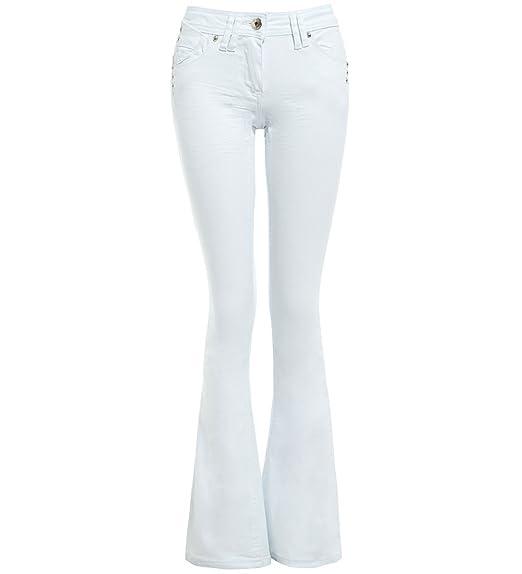 34 Flared Ss7 Slim Fit Jean Femmes Taille Blanc Denim Bootcut Jeans Nouveau 42 Flare LUVGqSMpz