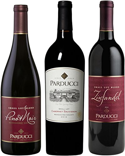 Parducci Best of Mendocino Red Wine Mixed 3 Pack, 5th Edition, 3 x 750 mL