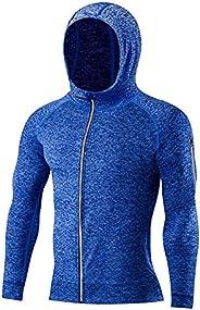 SHENGDA Men's Gym Workout Shorts,Athletic Sports Short or Long Sleeve Set,Running Jacket for Men(1-2P