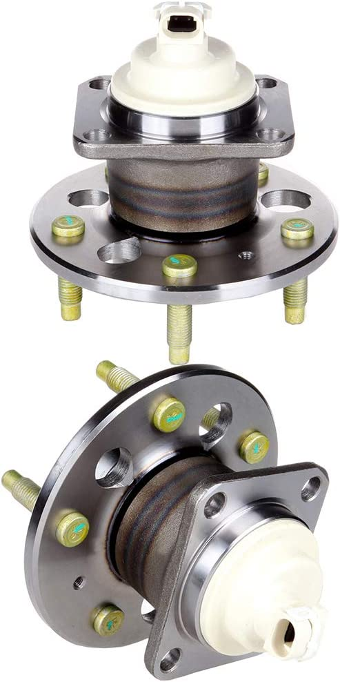 SCITOO Wheel Bearing and Hub Assembly Set 2 Pack Fits 1994-1996 Buick Century Rear Hub Bearing With 5 Lugs 512078