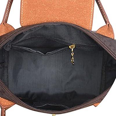 KARRESLY Women Fashion Nylon WaterProof Zipper Bag Dumpling Folding Tote Shoulder Travel Shopping Sport Handbag