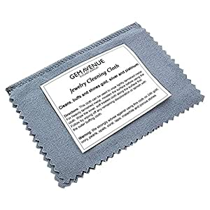Gem Avenue GASC 4 Inch x 6.5 Inch Gold and Silver Jewelry Instant Cleaning and Polishing Cloth Restores Shine