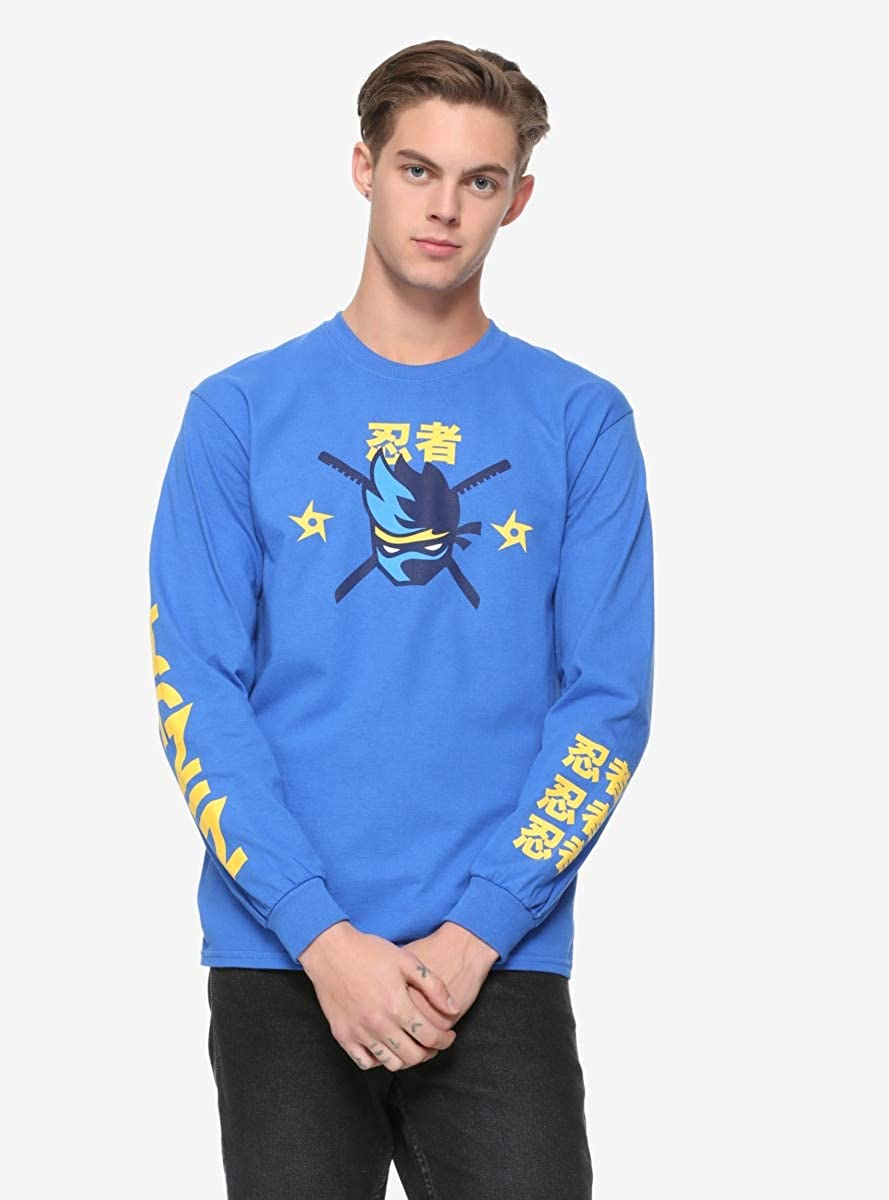 Ninja Logo Long-Sleeve T-Shirt Yellow | Amazon.com