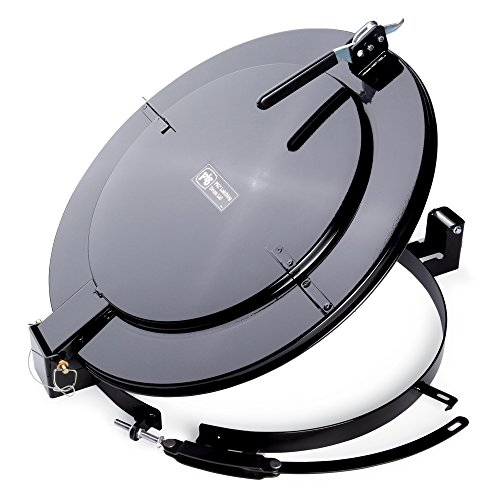 New-Pig-Steel-Outdoor-Latching-Drum-Lid-with-Fast-Latch-Ring-For-55-Gallon-New-and-Reconditioned-Open-Head-Steel-Drums