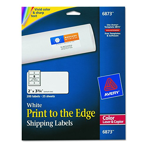 3 Laser Printer (Avery Print-To-The-Edge Labels for Laser Printers, 2 x 3.75 Inches,  200 Labels per Pack  (6873))