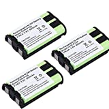 High Performance HHR P104 HHR-P104A 850mAh 3.6V Home Cordless Phone Batteries Rechargeable Batteries for HHR-P104 P104A KX-FG6550 KX-TG2388B (Pack of 3)