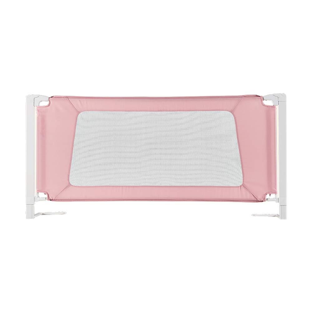 LHA ベッドガードフェンス ベッドの塀の赤ん坊の粉砕抵抗力がある塀のベッドのバッフルの子供のベッド1.5-2メートル (色 : Pink, サイズ さいず : L-180cm) L-180cm Pink B07MQJ6D2Q
