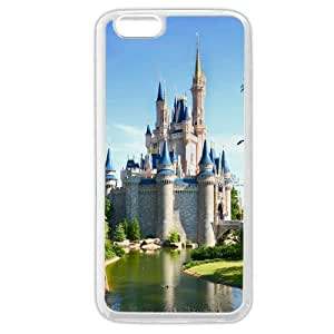 """Customized White Soft Rubber(TPU) Disney Castle iphone 5C Case, Only fit iphone 5C """""""