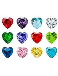 Sale New 12PC Crystal Heart Birthstones Floating Locket Charms 5mm For Living Memory Lockets Necklace & Bracelets