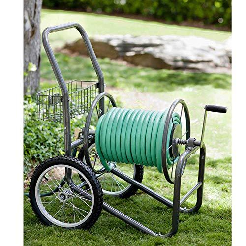Liberty Garden 880-2 Industrial 2-Wheel Pneumatic Tires Garden Hose Reel Cart, Holds 300-Feet of 5/8-Inch Hose - Bronze