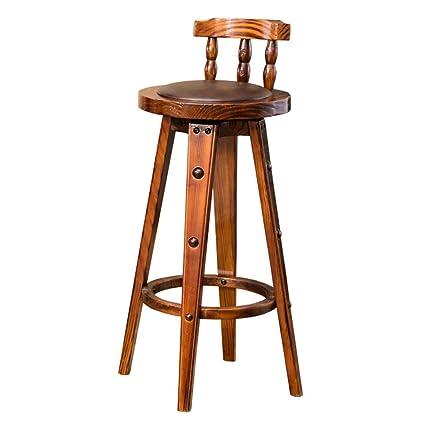 Amazon.com: COZY HONE - Taburete de bar AAA de madera maciza ...