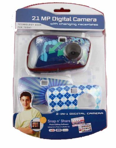 Sakar 2.1 MP Digital Camera with Changing FacePlates, 2 in 1 Digital Camera for Kids and Teens 83968