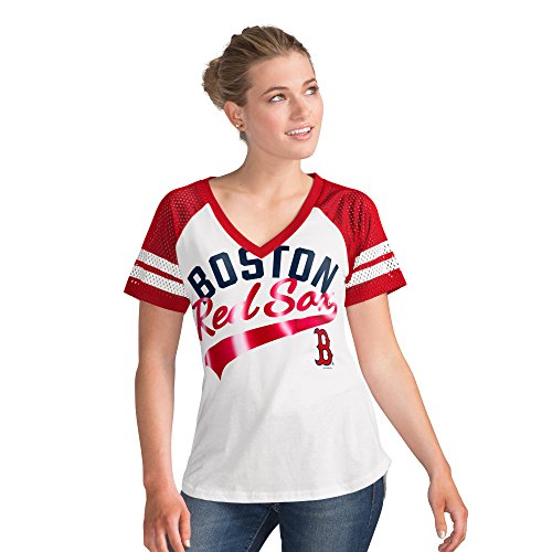 Top Sox Tank Top - Boston Red Sox Women's White Double Play V-Neck T-shirt Large